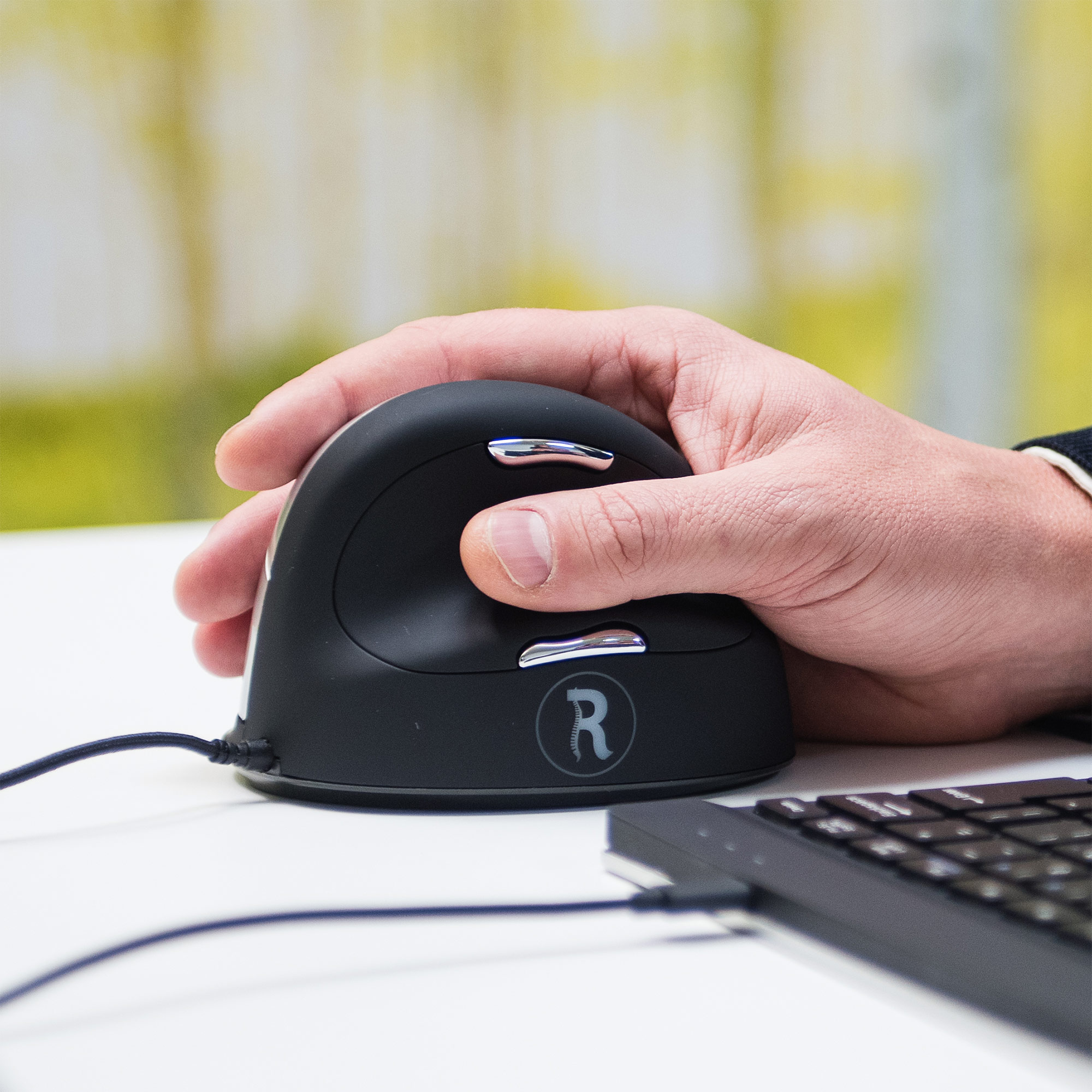 R-Go HE Mouse, Ergonomic mouse, Large (Hand Size above 185mm), Right Handed, wired - 2