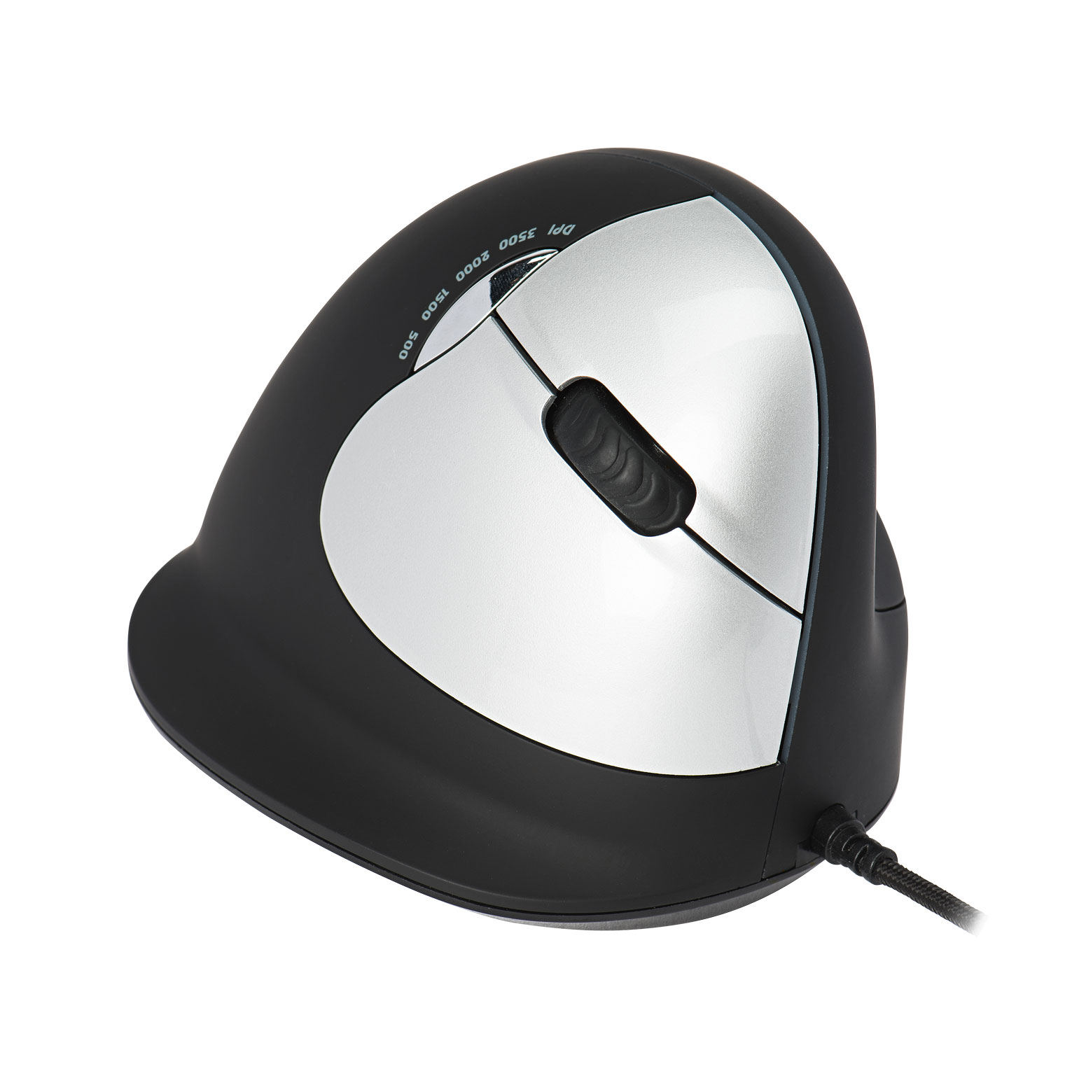 R-Go HE Break Mouse, Ergonomic mouse, Anti-RSI software, Medium (Hand Size 165-185mm), Right Handed, Wired - 5