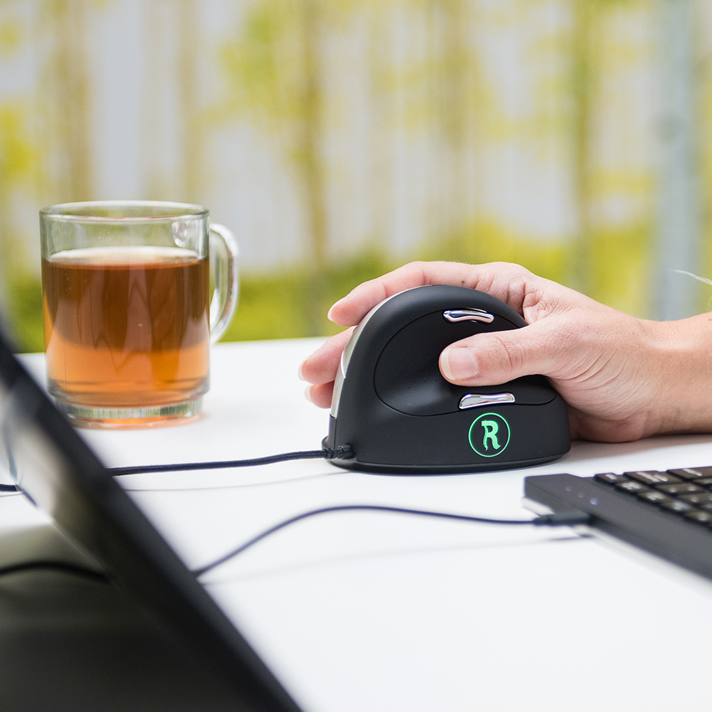 R-Go HE Break Mouse, Ergonomic mouse, Anti-RSI software, Medium (Hand Size 165-185mm), Right Handed, Wired - 2