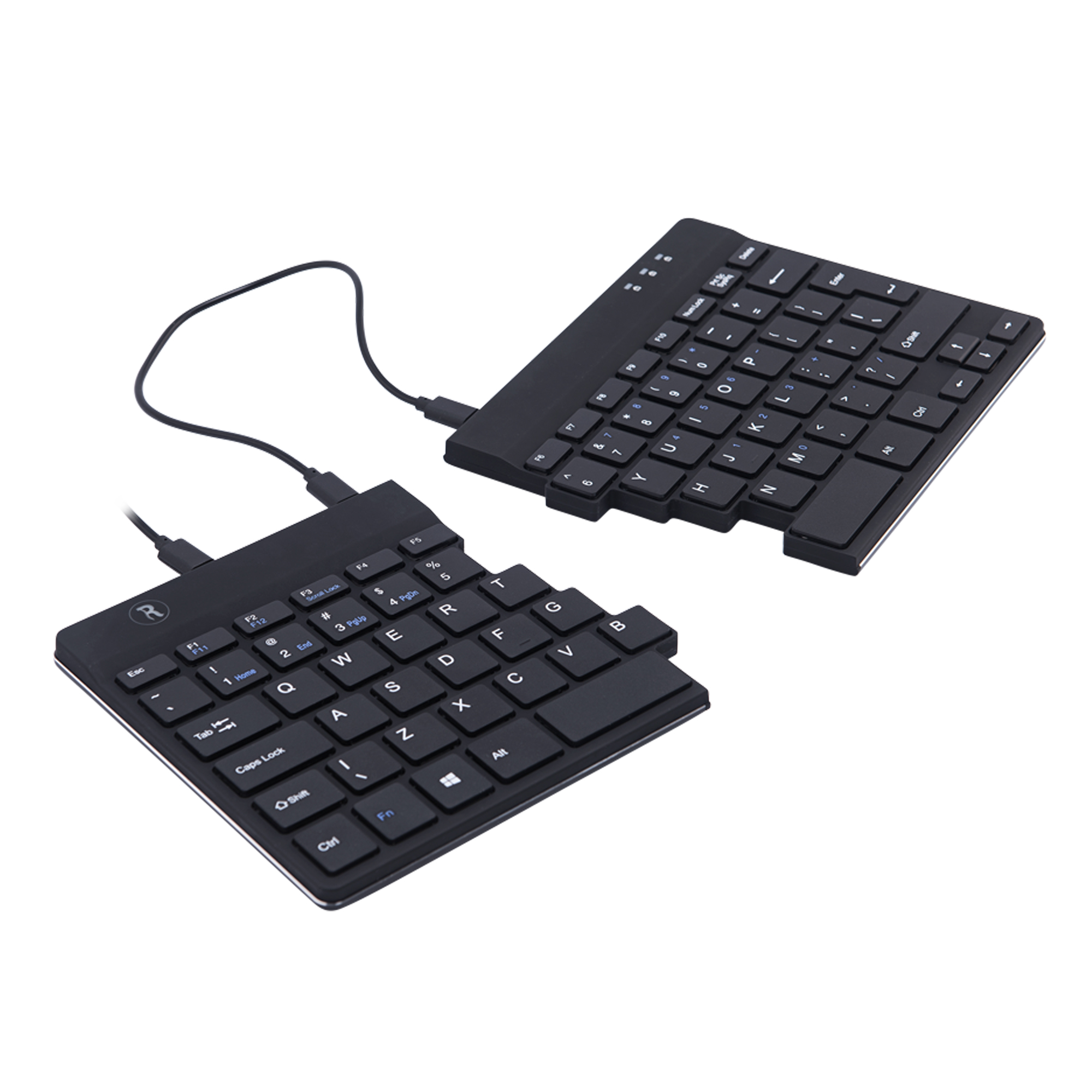 R-Go Split Break Ergonomic Keyboard, QWERTY (US), black, wired - 4