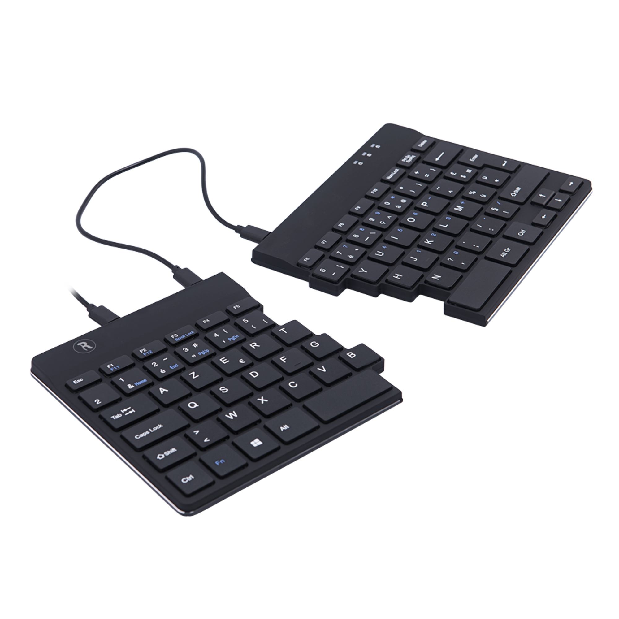 R-Go Split Break Ergonomic Keyboard, AZERTY (FR), black, wired - 4