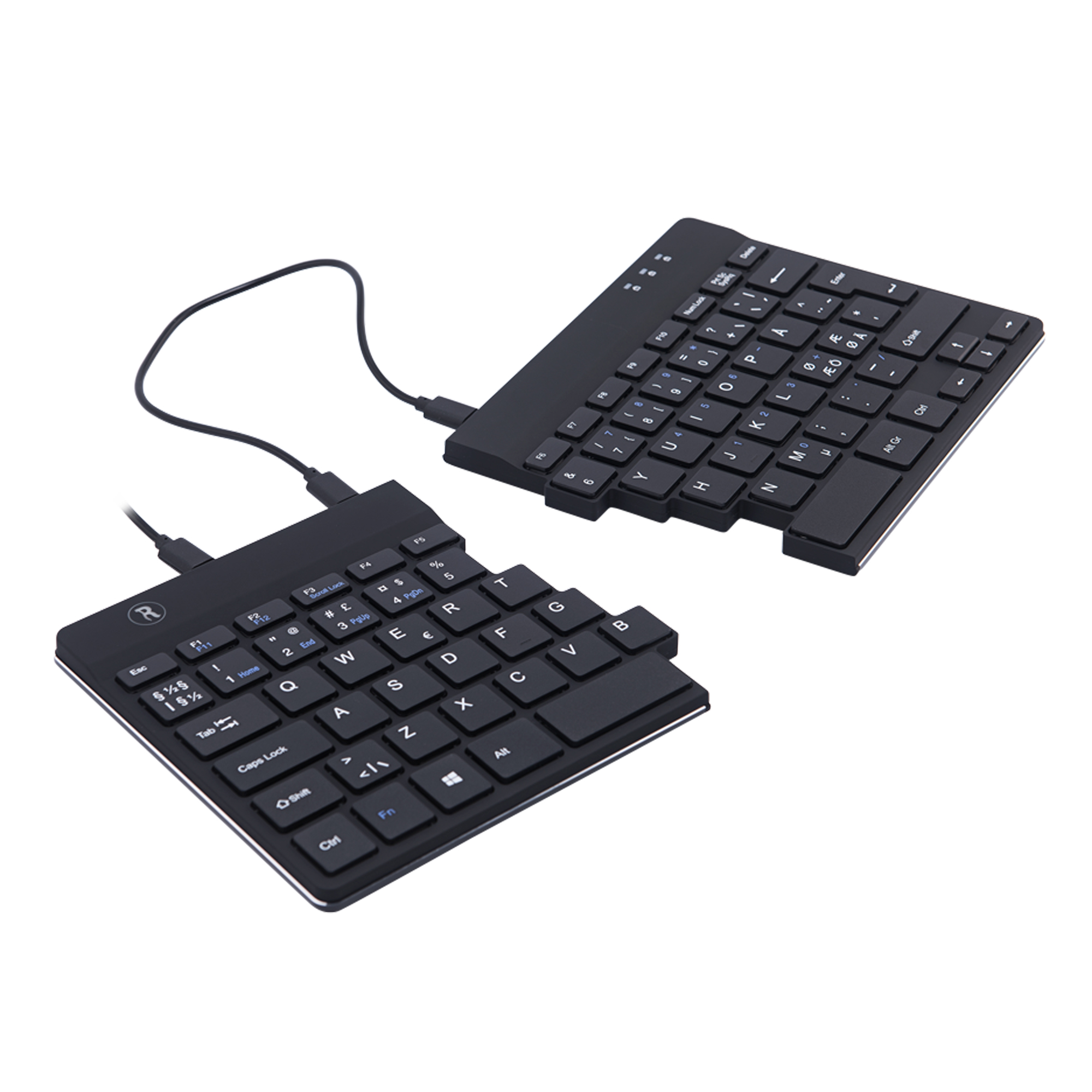 R-Go Split Break Ergonomic Keyboard, QWERTY (Nordic), black, wired - 4