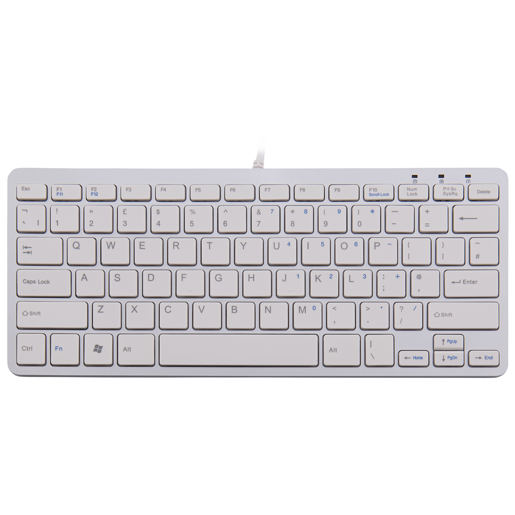 R-Go Compact Keyboard, QWERTY (UK), white, wired