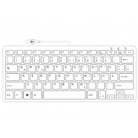 R-Go Compact Keyboard, QWERTZ (DE), white, wired - 2