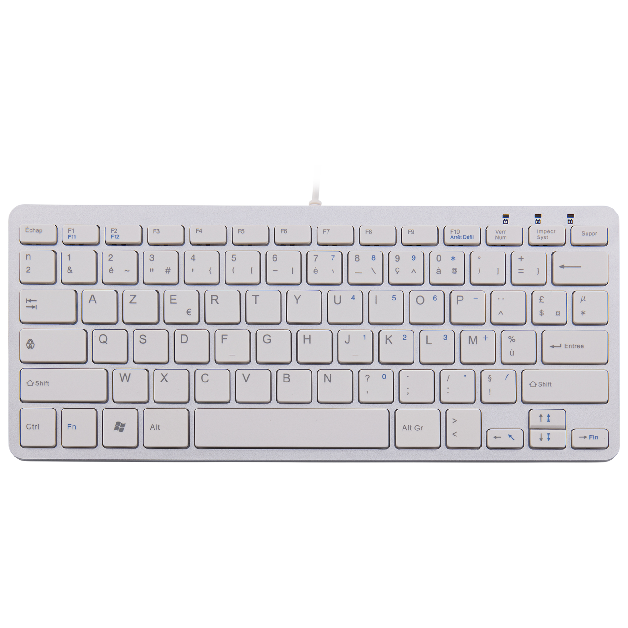 R-Go Compact Keyboard, AZERTY (FR), white, wired