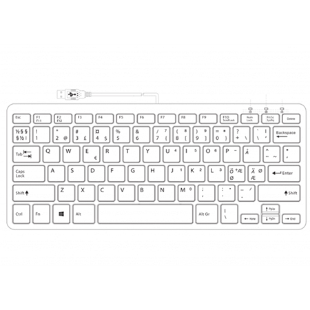R-Go Compact Keyboard, QWERTY (NORDIC), black, wired - 2