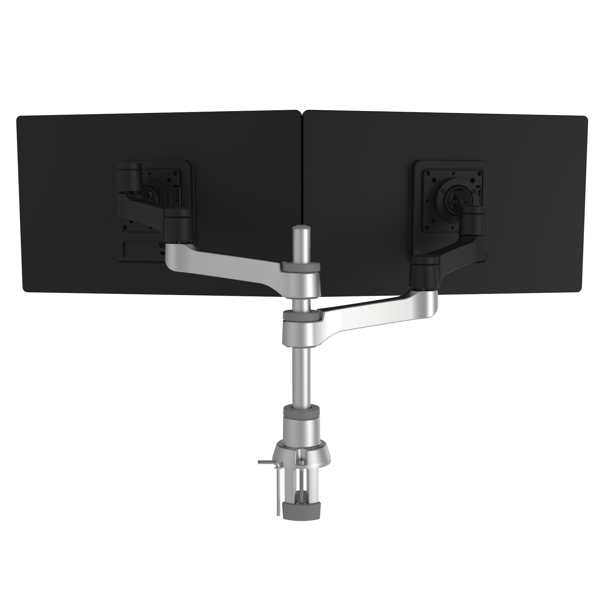 R-Go Zepher 4 C2, Circular Dual Monitor Arm, Desk Mount, Adjustable, 0-8 kg, Black-Silver, Low Carbon Footprint - 3