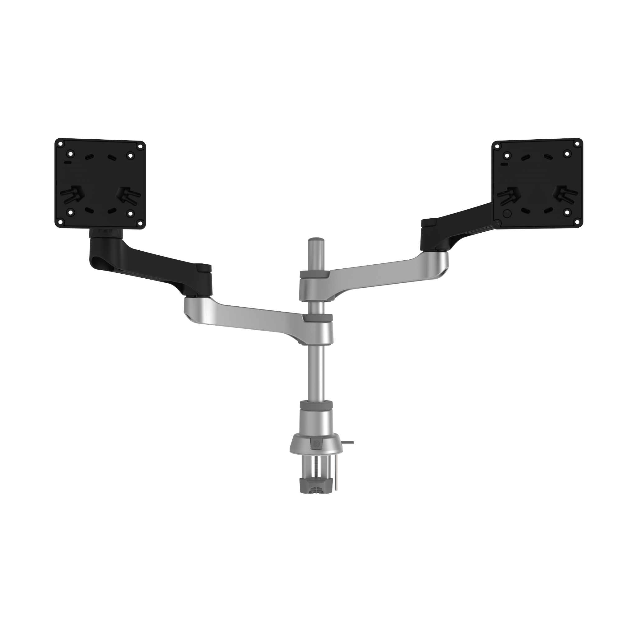 R-Go Zepher 4 C2, Circular Dual Monitor Arm, Desk Mount, Adjustable, 0-8 kg, Black-Silver, Low Carbon Footprint - 4