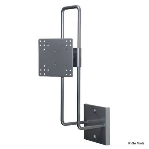 "R-Go Up & Down Wall Mount, up to 27"", Max weight 10kg, adjustable, silver - 1"