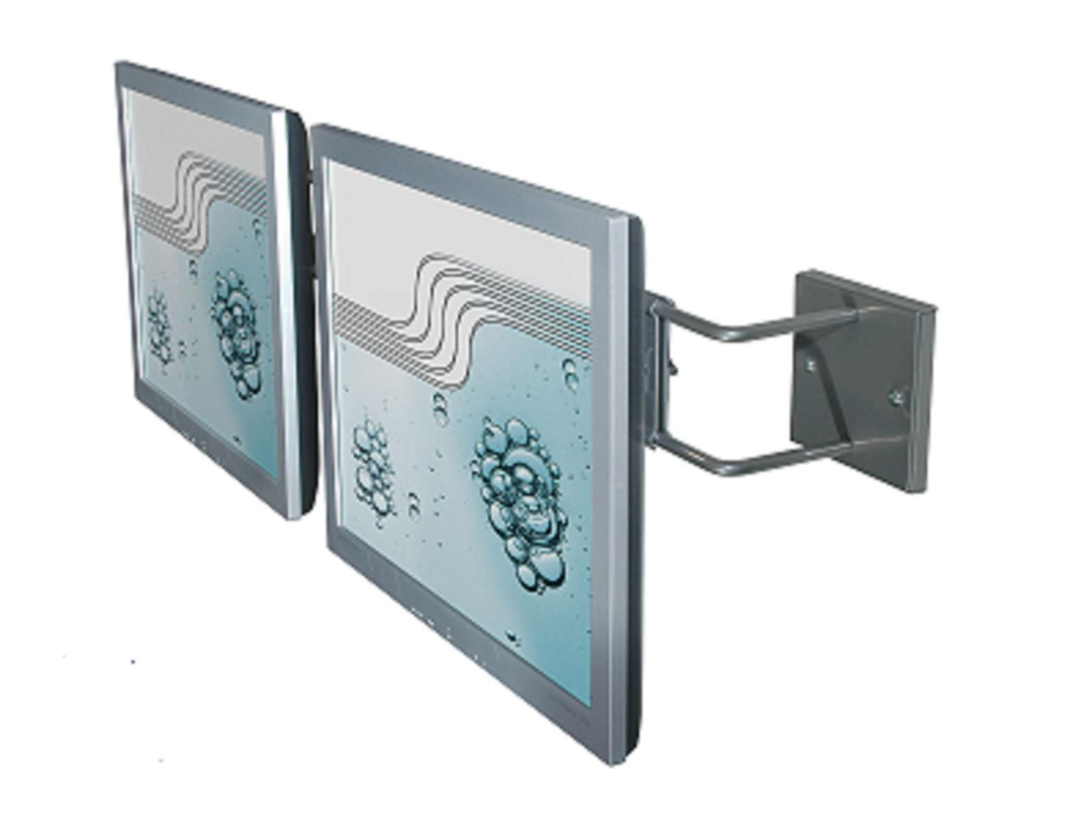 R-Go Double Screen Wall Bracket, adjustable, silver - 4