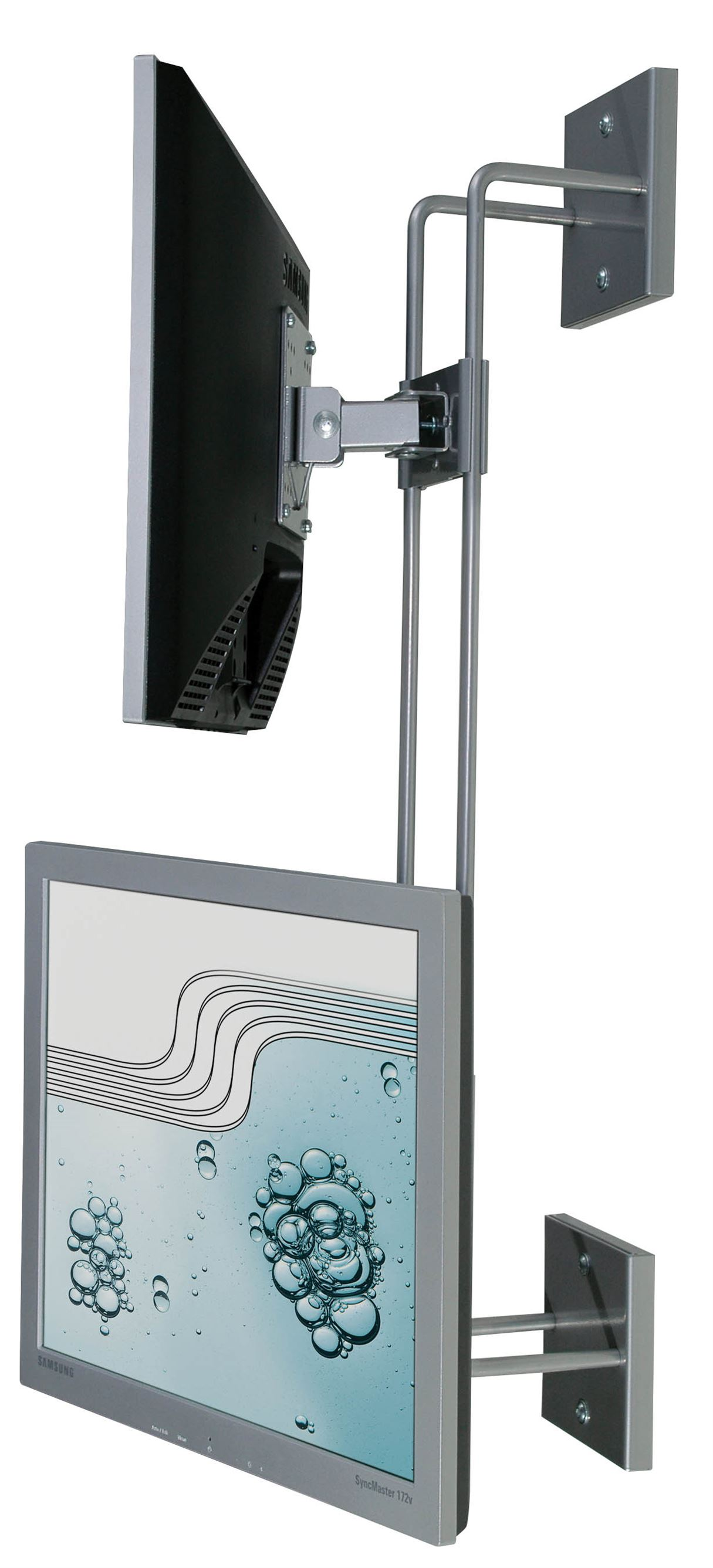R-Go Double Screen Wall Bracket, adjustable, silver - 5