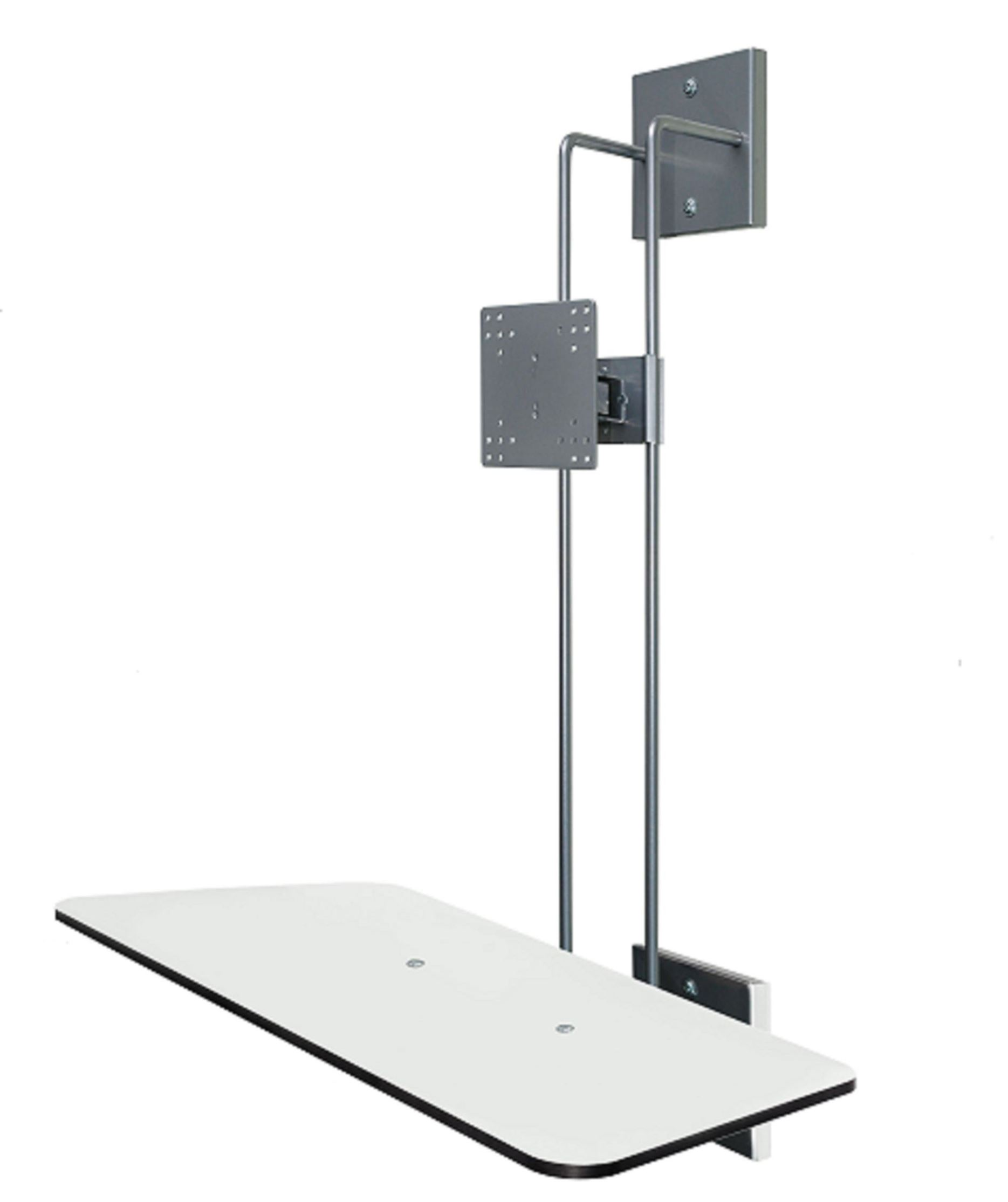 "R-Go Hang Out Wall Mount, with display for mouse and keyboard, up to 27"", Max weight 10kg, adjustable, silver - 4"